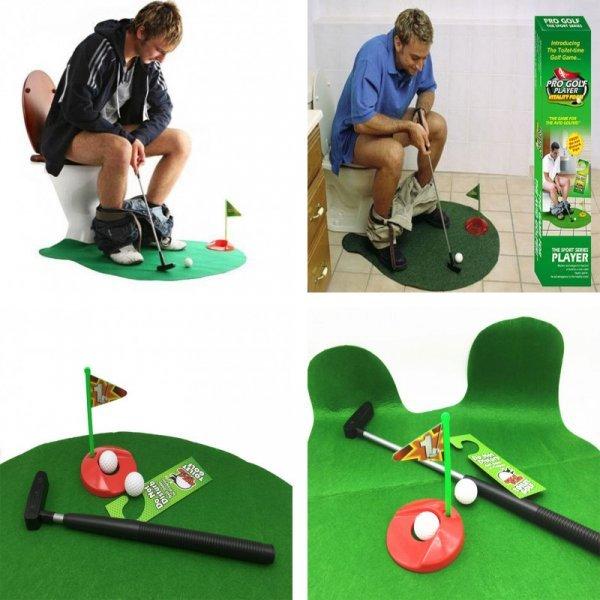 Мини-гольф для игры на унитазе - супер вещь