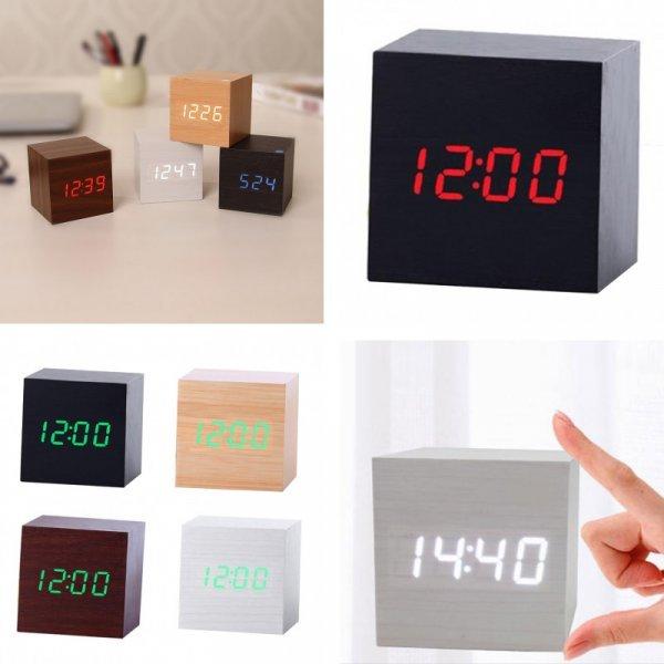 Оригинальные часы с будильником  LUKENI (15 цветов)