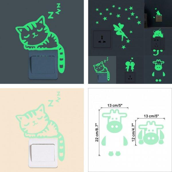 Светящиеся стикеры на стену (7 видов)