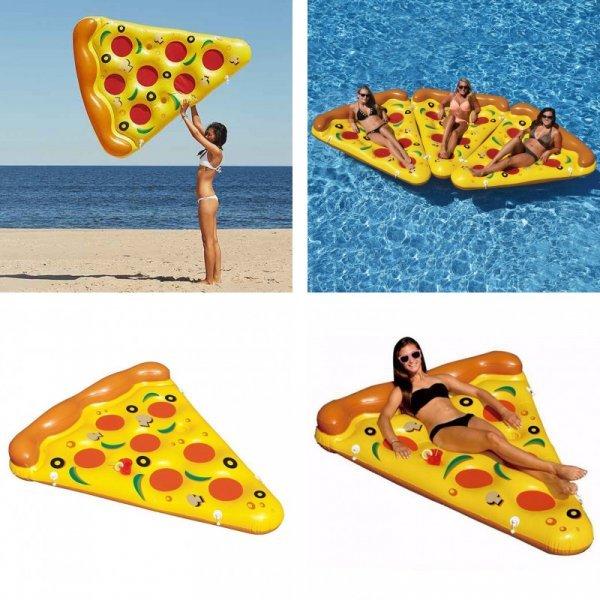 """Надувной матрас Пицца для релакса (72 """"180 см)"""