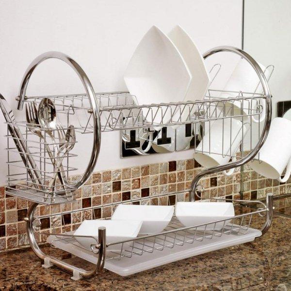 Сушилка настольная для посуды HOUSEEN (2 яруса)