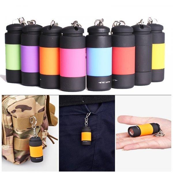 Влагозащитный мини фонарик с USB  зарядкой Sunfield (7 цветов)