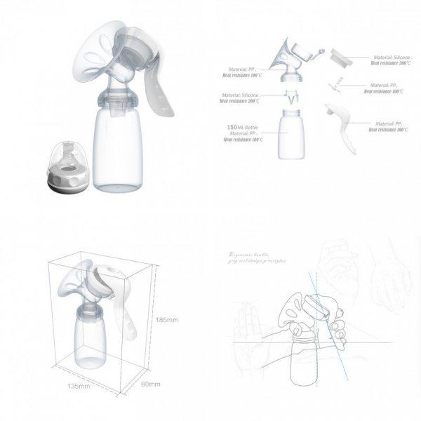 Механический молокоотсос TONICHELLA (ручной)