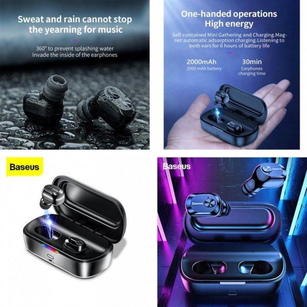 Беспроводные наушники Baseus W01 (4 цвета)