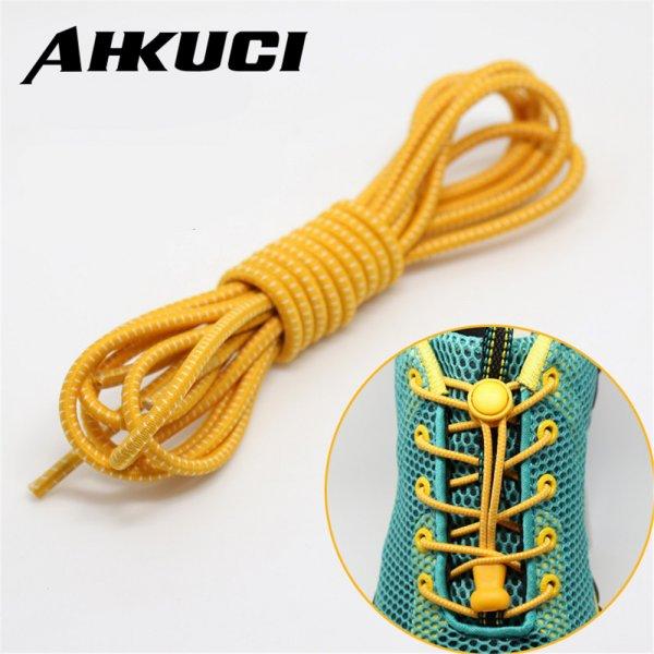 ХИТ! Шнурки с замком AHKUCI (1 пара, 14 цветов, 100 см)