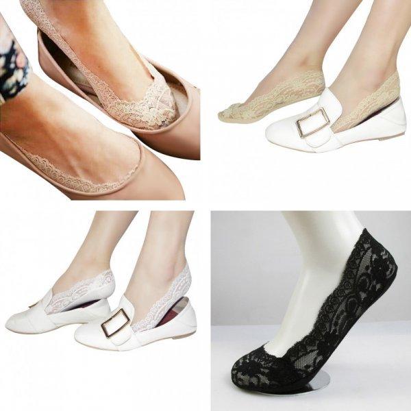 Невидимые носочки с ажурным рисунком Queen time (4 цвета, 38 р-р)