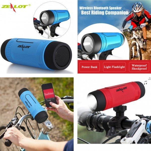Блютуз колонка с фонариком для велосипеда ZEALOT