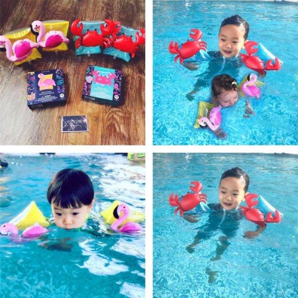 Нарукавники Краб и Фламинго для безопасного купания ребенка