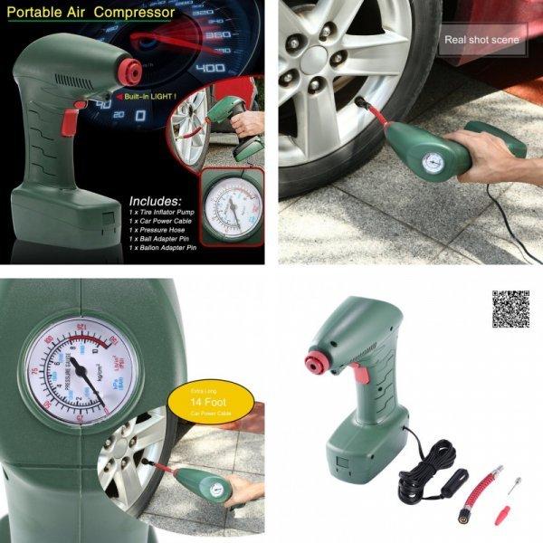 Воздушный компрессор для шин авто Tirol (20 л/мин)