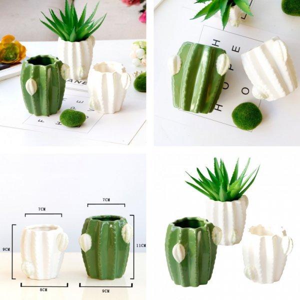 Керамический горшок для кактусов (2 цвета)