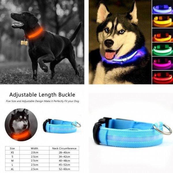 Светодиодный ошейник для собак YVYOO