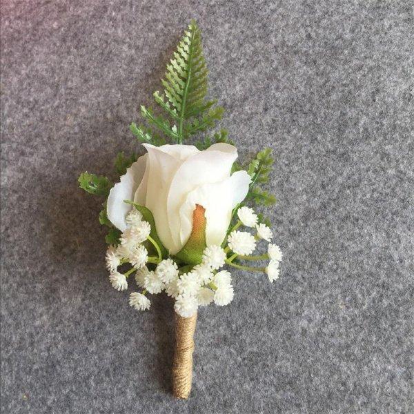 Бутоньерка для жениха WeddingBobDIY