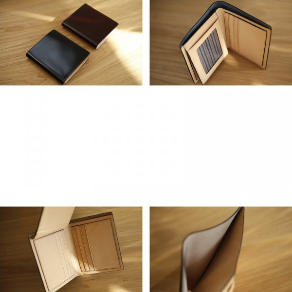 Мини бумажник ручной работы Lanspace для него (3 цвета, 11.5*9.5 см, нат.кожа)
