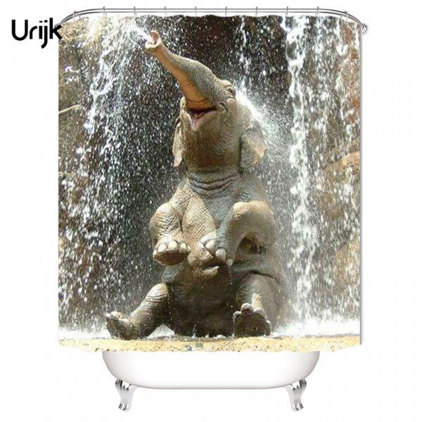 Реалистичная 3D штора для ванной Urijk (150*180 см, 180*180 см, 180*200 см)