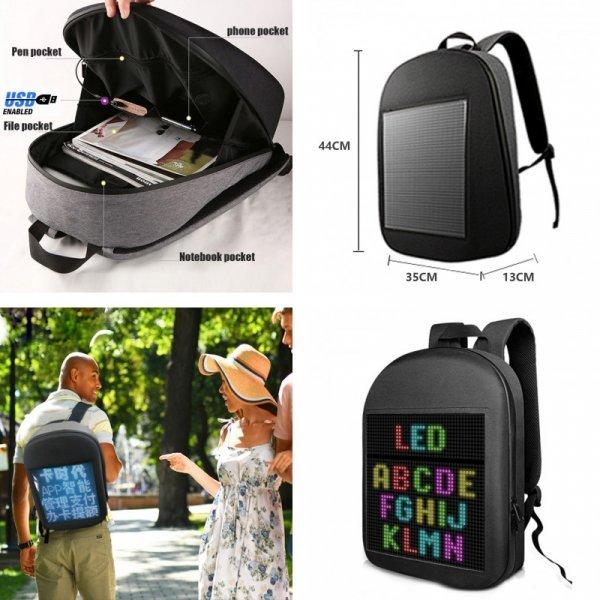 Рюкзак с пиксельным экраном