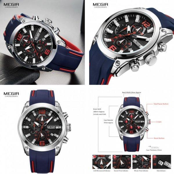 Спортивные часы для мужчин Megir (3 цвета)