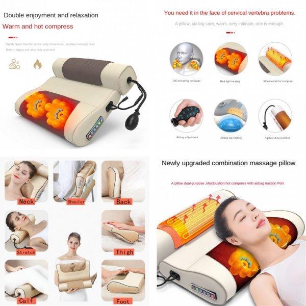 Массажная подушка с подогревом