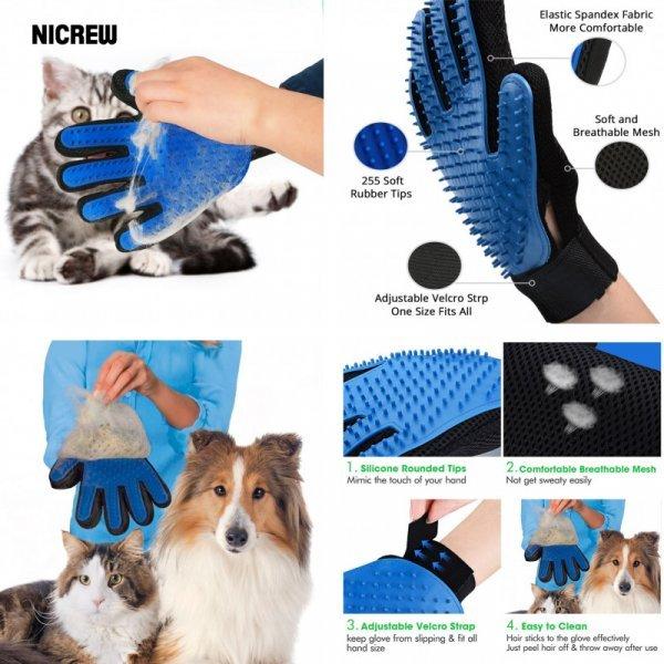Массажная перчатка для питомца NICREW - блаженство
