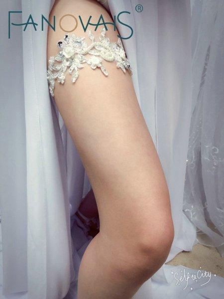 Свадебная подвязка FANOVAIS  из кружева - дань традиции