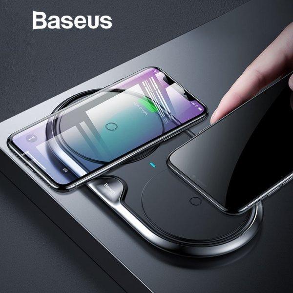 Беспроводная зарядка на 2 телефона Baseus 10 W