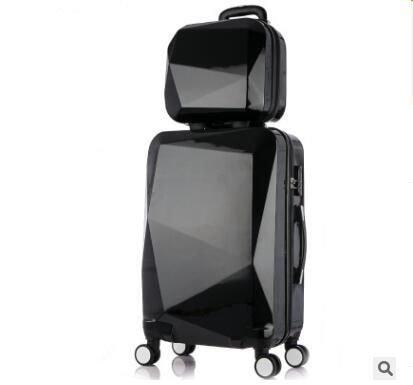 """Настоящий женский чемодан с сумкой и чехлом Weishengda 20"""" и 24"""" (10 цветов)"""