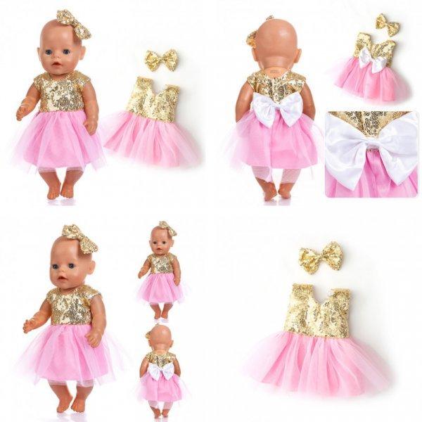 Платье для куклы  NURVACO (43 см, 8 видов)