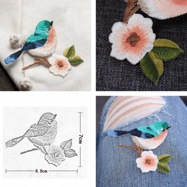 3D термонаклейка Птичка (2 цвета)