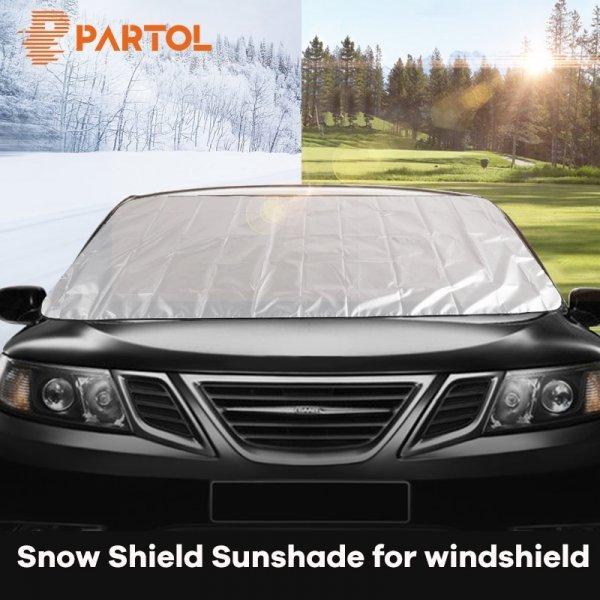 Солнцезащитная накидка на ветровое стекло авто Partol