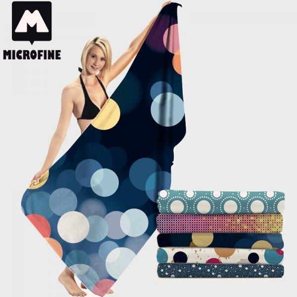 Большое банное полотенце Microfine (5 рисунокв, 4 размера)