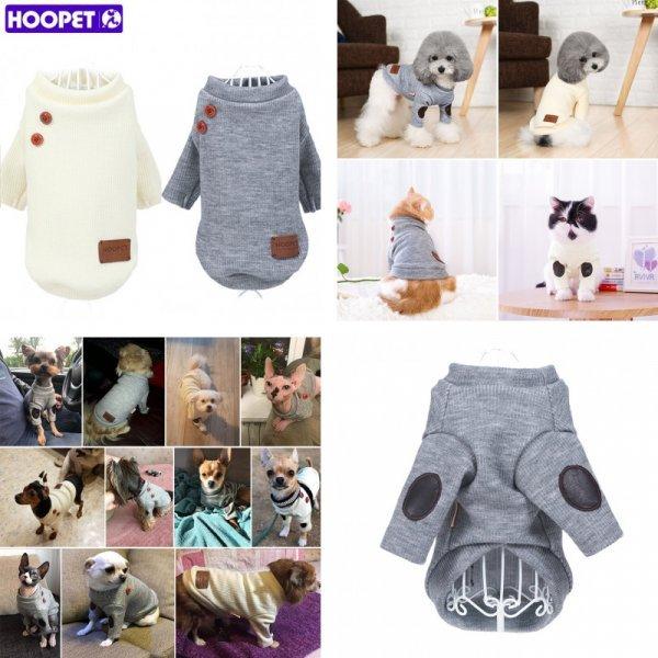 Мягкий свитерок для кошек HOOPET (5 размеров, 2 цвета)