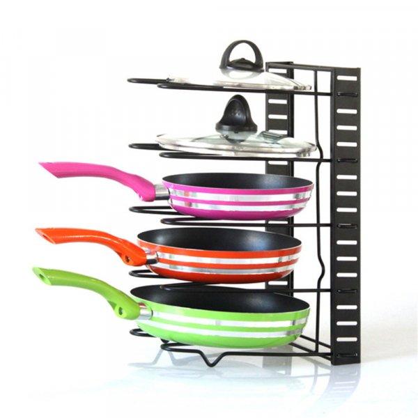 Держатель для сковородок (4 и 5 ярусов, 29.5*20*4 см, 38*21*4 см)
