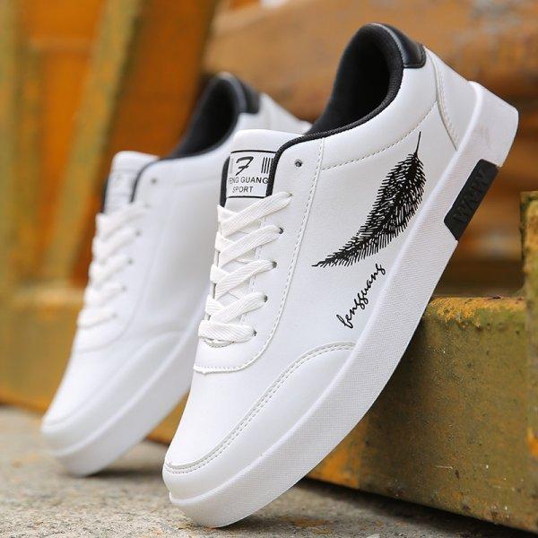 Белые мужские кроссовки BORRUICE (6 размеров, 3 цвета)