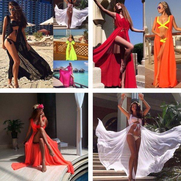 Элегантное платье-парео как у кинозвезд Голливуда (10 цветов)