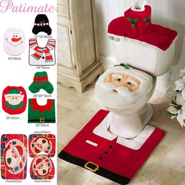Новогодний комплект в ванную PATIMATE (30 принтов, 3 шт)
