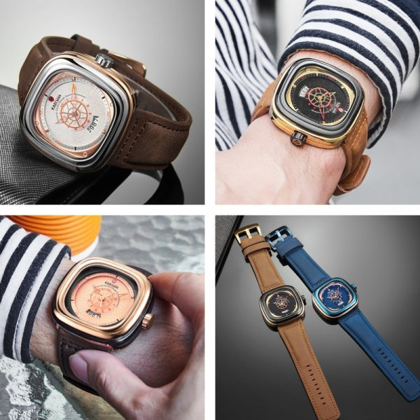 Мужские часы KADEMAN (6 цветов)