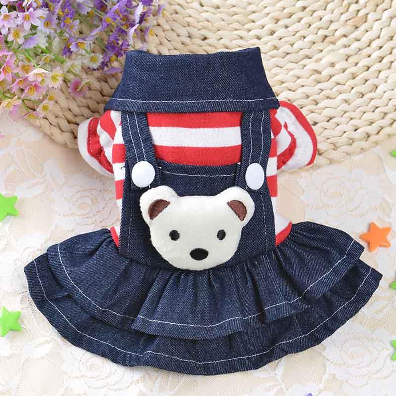 Нарядное платье с Мишкой для собаки
