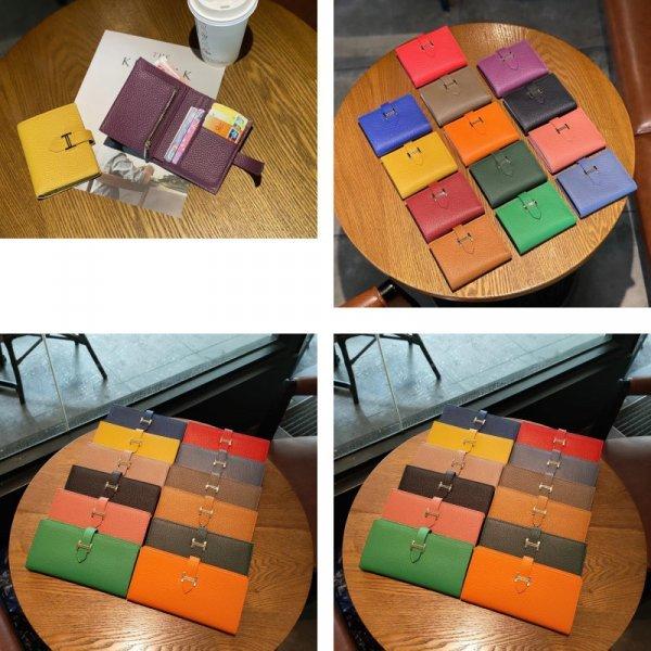Женский кошелек из нат.кожи (12 цветов)