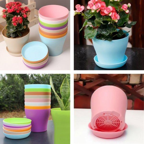 Горшочек для комнатных растений (4 цвета, 3 размера)