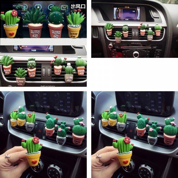 Забавный ароматизатор в авто Кактус  (13 видов)