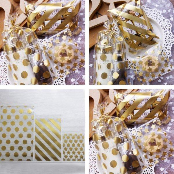 Роскошный золотой пакетик для подарка на любой повод (8*10 см, 25 шт)
