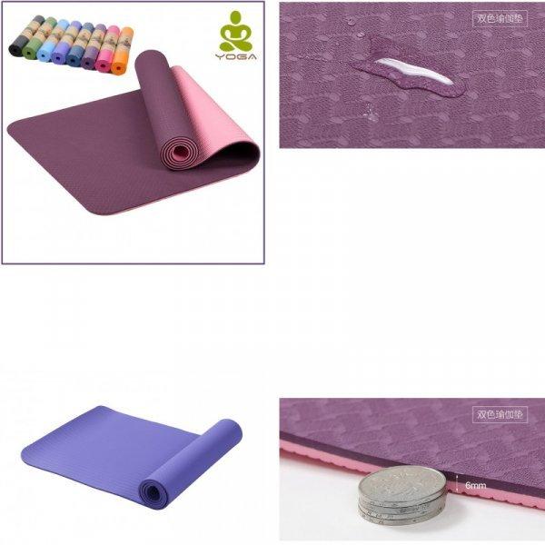 Отличный коврик для йоги (183*61 см, 6 мм, 5 цветов)