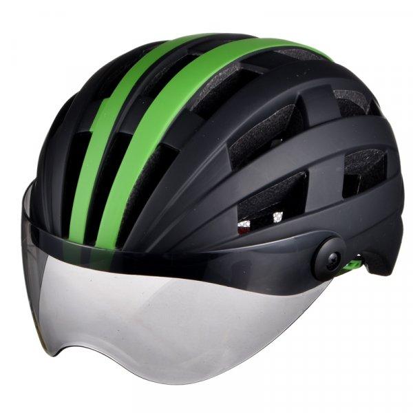 Велосипедный шлем Wolfbike с очками 2 в 1 (6 цветов)