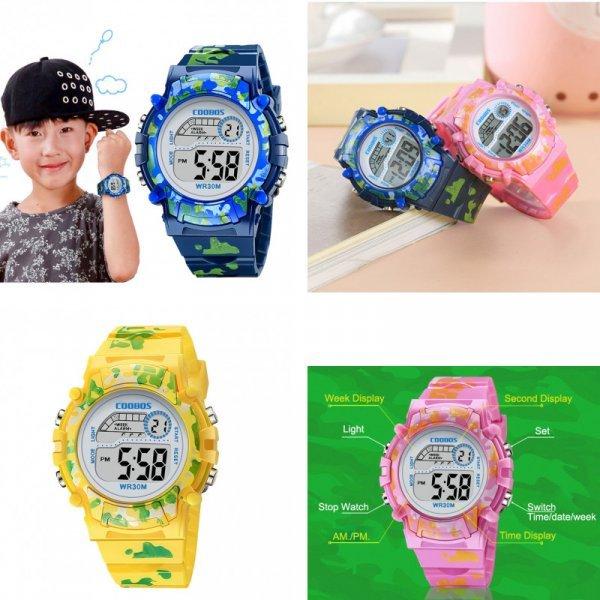 Часы для мальчишек и девчонок Сoobos (4 цвета)