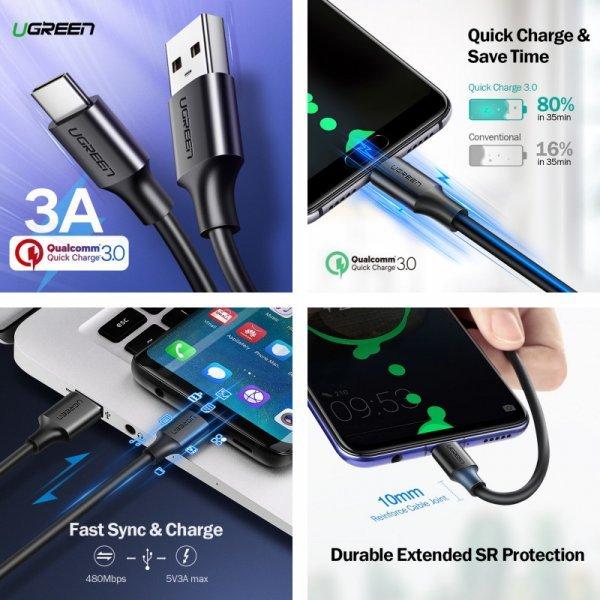 USB Type C Кабель Ugreen для Xiaomi NEXUS, LG