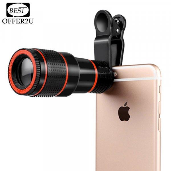 Супер объектив с 12x зумом для iphone (4S 5S 6 S 7)