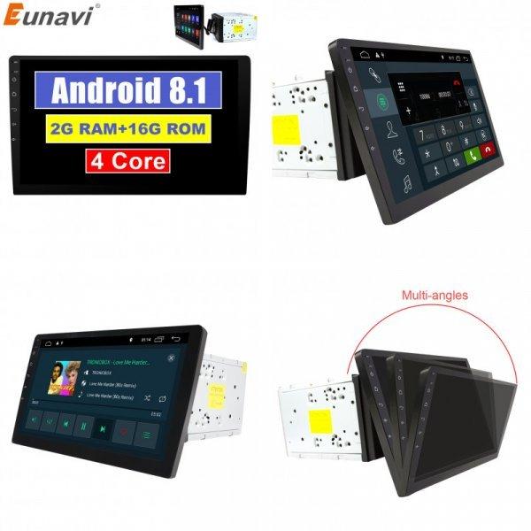 Крутая автомагнитола  2 din с навигатором  Eunavi (Android 8,1 Bluetooth, Wi-Fi)