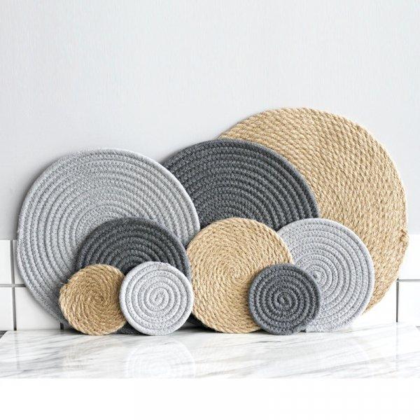 Круглый коврик для стола MAHOWINGS (3 цвета, 11.5 см, 18.5 см, 30.5 см, 36 см)