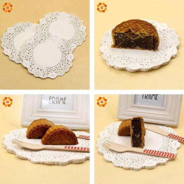 Плотные кружевные подставки для торта (11 см, 50 шт)