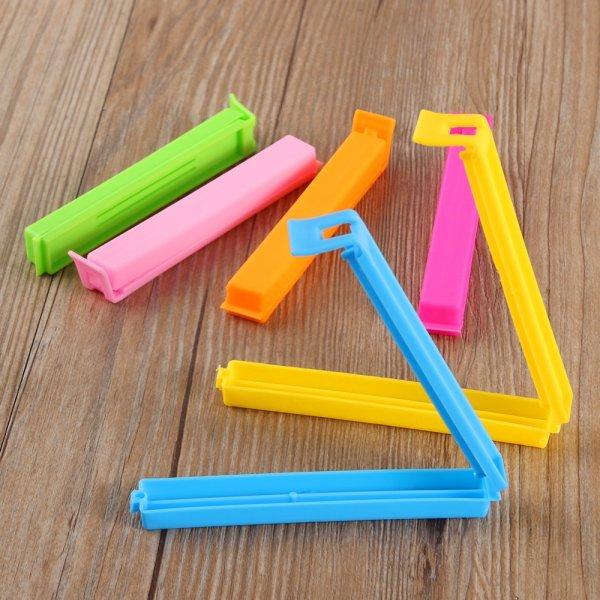 Удобные зажимы для всяких мелочей LINSBAYWU (5 и 10 шт, пластик, 11*1.5*1.2 см)