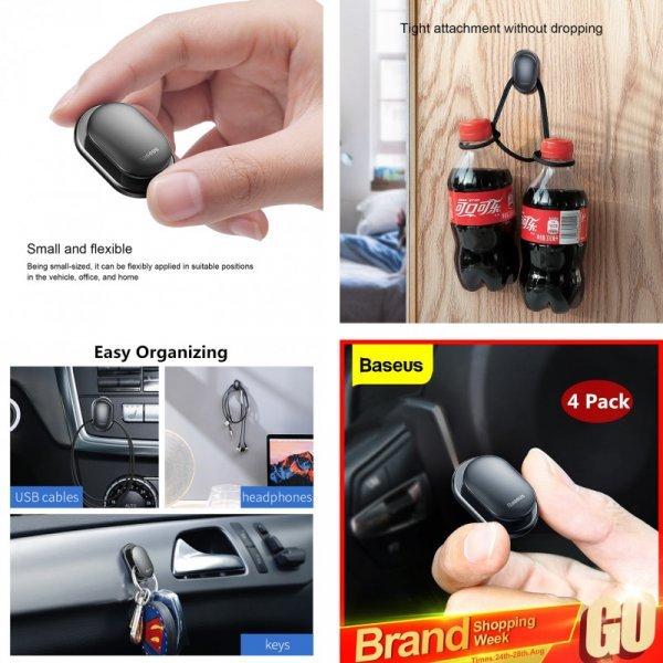 Автомобильные крючки Baseus (4 шт)